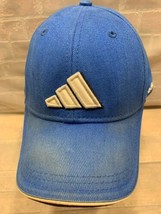 ADIDAS 3 Stripes ClimaLITE Blue White Adjustable Adult Cap Hat - $12.86