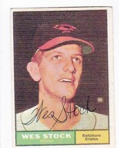 WES STOCK AUTOGRAPHED 3 X 5 INCH PHOTO BALTIMORE ORIOLES - $3.98