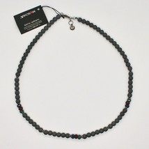 Silver Necklace 925 Burnished with Hematite and Agate Made in Italy by Maschia image 2