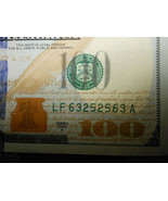 REPEATER SERIAL NUMBER FANCY 63252563  $100 ONE HUNDRED DOLLAR BILL NOT... - $350.00
