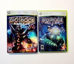 Bioshock 1 & Bioshock 2 (Microsoft Xbox 360) Complete Bundle Lot - $14.20