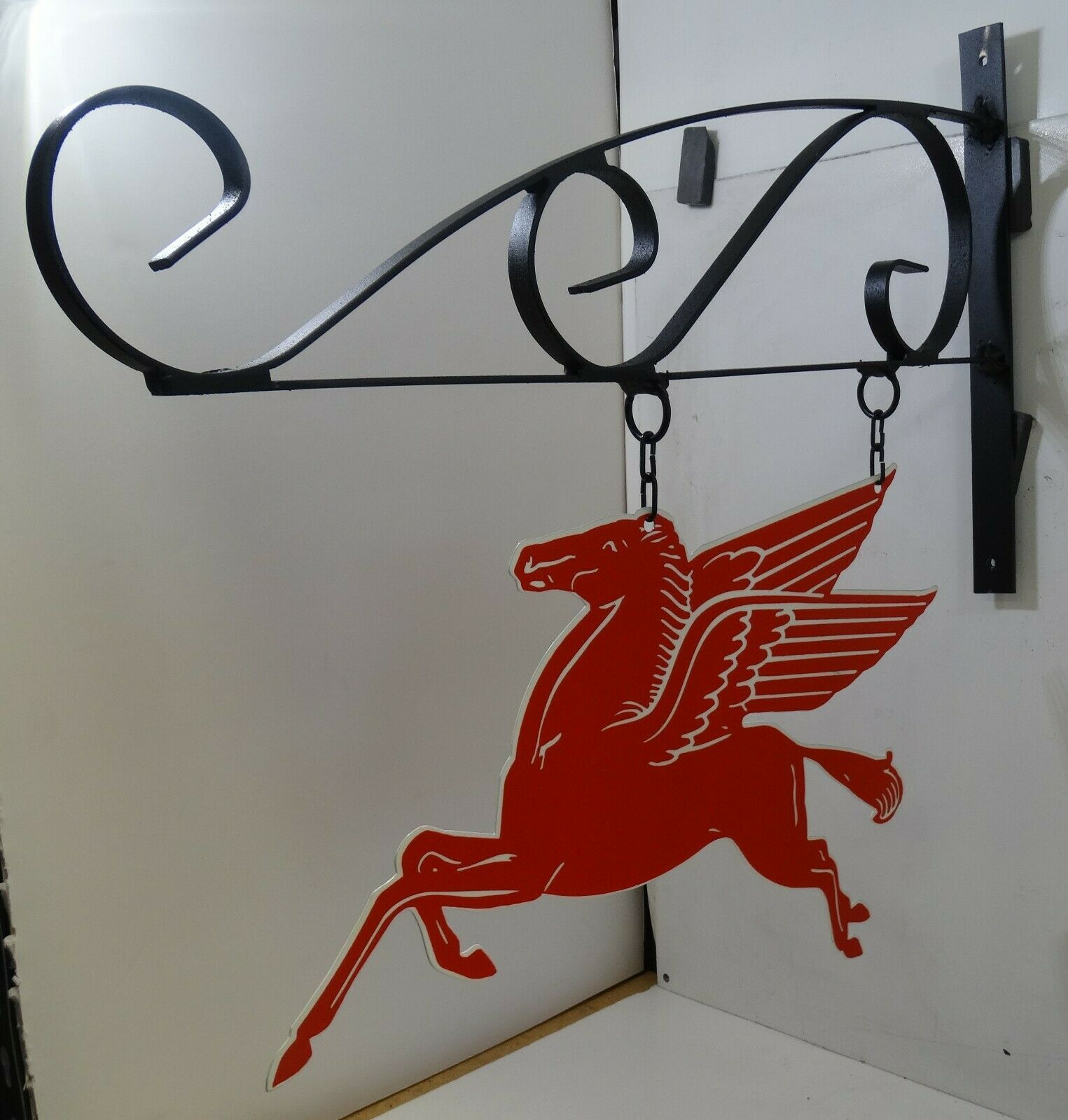 Mobil Pegasus Plasma Cut Metal Sign on Hanger 15""