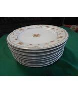 "beautiful ALICIA by DANIELE Fine Porcelain China 8 BREAD-SALAD Plates 7.5"" - $17.04"