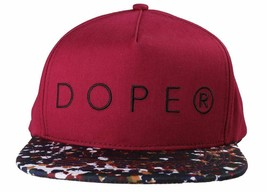 Dope Couture D0915-H206-BUR Seurat hook Loop Strapback Cap Burgundy Speckled Hat