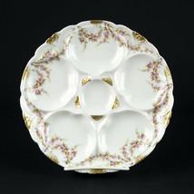 Theodore Haviland Limoges Varenne Oyster Plate, Antique Schleiger 145, 8... - $88.20