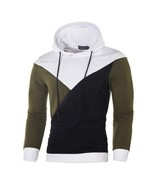 Men's Stitching Autumn Long Sleeve Patchwork Sweater Top Tee Outwear Blouse - $28.81