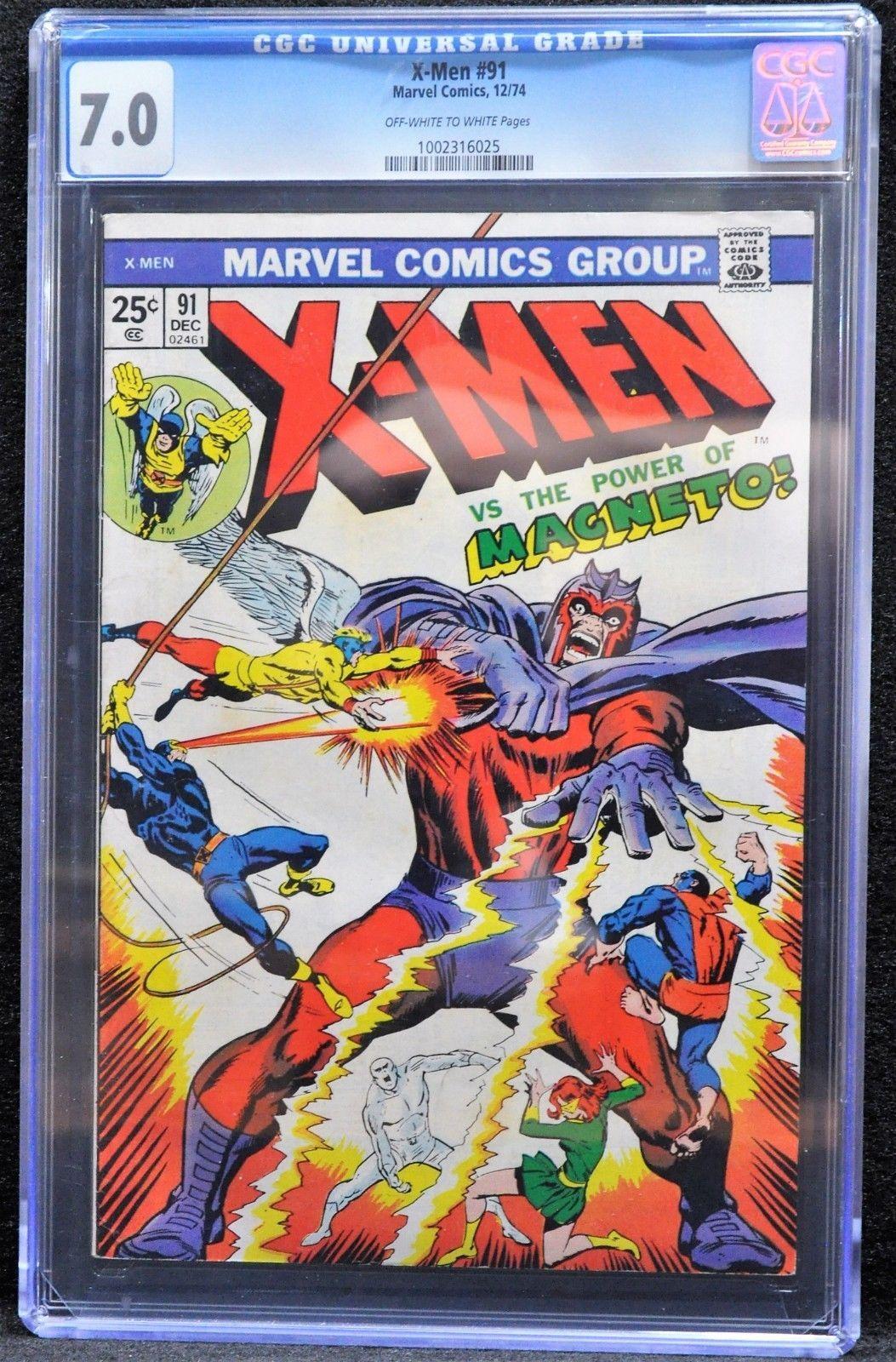 X-men #91 (Marvel, 1974) CGC 7.0