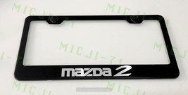 Mazda 2 Stainless Steel Metal License Plate Frame Rust Holder Free W/ Bolt Caps - $13.50