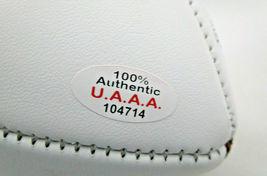 TOM BRADY / AUTOGRAPHED NEW ENGLAND PATRIOTS LOGO WHITE PANEL FOOTBALL / COA image 5