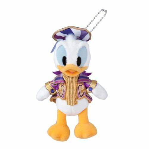 Donald Duck Plush Doll Badge Happiest Celebration Tokyo Disney Limited Japan