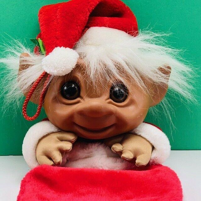 "Troll Christmas stocking vintage mithy xmas holiday toy figure vtg 25"" santa mcm"