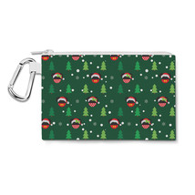 Christmas Santa Mickey & Minnie Disney Inspired Canvas Zip Pouch - $15.99+