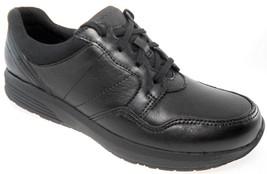 ROCKPORT TS W TIE WOMEN'S BLACK COMFORT WALKING LEATHER SNEAKER, CG8958 - $79.99