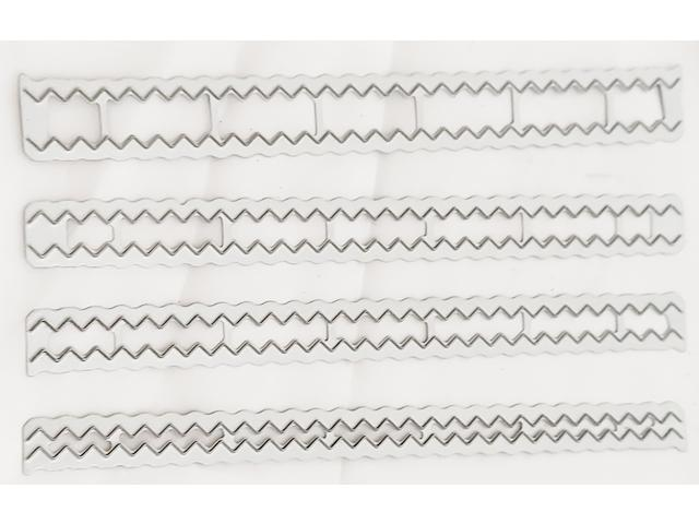 Zig Zag Dies-Set of 4 Different Sizes-each 6 inches long