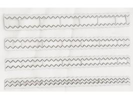 Zig Zag Dies-Set of 4 Different Sizes-each 6 inches long image 1