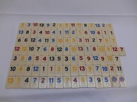 Old Vtg LOT 106 GAME TILES Rummy Game Of Israel - $19.79