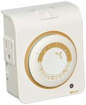 Coleman Cable 50021WD Mechanical Timer 24 Hour Programmable 2 Outlet, White - $8.07