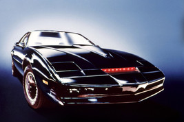 Knight Rider Kit Car With Red Lights On Glowing Background 18x24 Poster - $23.99