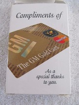 Vintage GM Gold MasterCard General Motors Incorporation Playing Cards  - $7.37