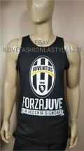 Juventus Fc Black Tank Top Forza Juve La Vecchia Signora Soccer - $17.99+