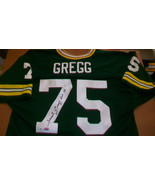FORREST GREGG AUTOGRAPHED GREEN BAY PACKERS JERSEY, #75, SUPER BOWL CHAM... - $519.75