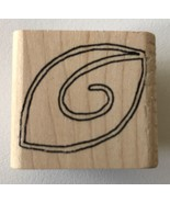 """Inky Antics Rubber Stamp Leaf with Curly-cue D3-1143-1D  1.5"""" x 1"""" - $2.99"""