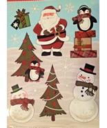 Static Window Clings Christmas Santa Claus Penguin Snowman New - $8.86