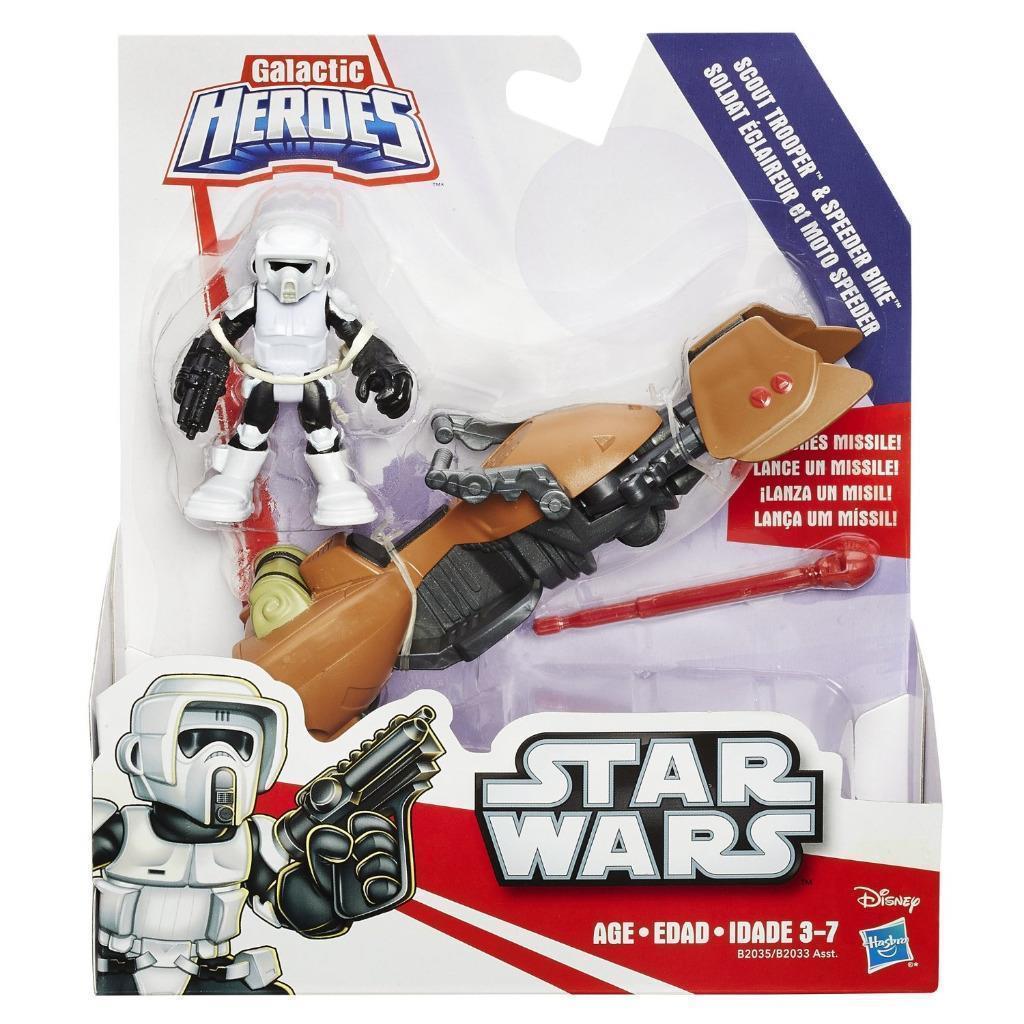 Star Wars Galactic Heroes Speeder Bike and Scout Trooper [New] Playskool