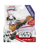 Star Wars Galactic Heroes Speeder Bike and Scout Trooper [New] Playskool - $19.99