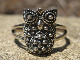 Haunted wisdom of the Ages magickal owl ring of wisdom Moonstar7spirits  - $55.00