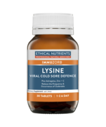 Ethical Nutrients Lysine Viral Cold Sore Defence 30 Tablets - $73.84