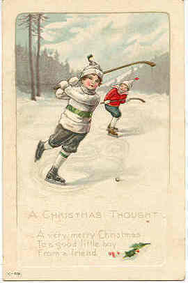 A Christmas Thought Vintage Post Card