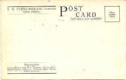 The Farquhar Seed Drill Company York Pennsylvania Post Card