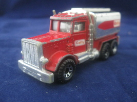 Matchbox Vintage 1981 Peterbilt Red Getty Fuel Tanker Truck - $1.60