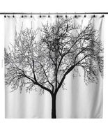 BLACK TREE PEVA Polyester 180x180cm Bathroom Shower Use SHOWER CURTAIN w... - $14.99