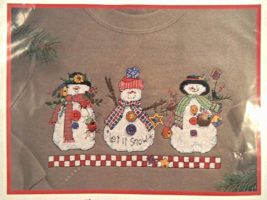 Dimensions LET IT SNOW Waste Canvas Design Counted Cross-Stitch Kit - NIP! - $10.00
