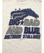 Baltimore Stallions Vintage Big, Bad & Blue CFL Football T-Shirt Sz Large - $15.98