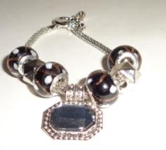 Black Crystal Charm Bracelet - $6.99