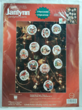 Janlynn HOLIDAY FAVORITES Counted Cross-Stitch Ornaments - Set of 12 - NIP! - $21.50