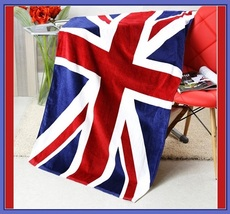 USA UK & Canada Flag of our Nation Soft and Absorbent Large Cotton Beach Towel image 3