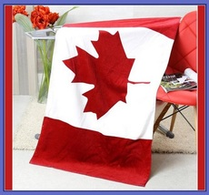 USA UK & Canada Flag of our Nation Soft and Absorbent Large Cotton Beach Towel image 4