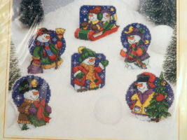 Dimensions FROSTY FRIENDS ORNAMENTS - Counted Cross-Stitch Set of 6 - NIP! - $26.50