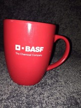 BASF mug cup Chemical Company AgroScience Made in Germany Red Interior Lettering - $15.00