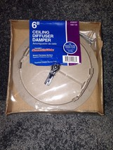"6"" Ceiling Diffuser Damper Truaires  Smoothglide brown paintable surface  - $18.00"