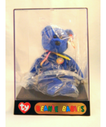 CLUBBY THE BEAR Ty Original Beanie Baby - New With Tag in Display Case! - $100.00