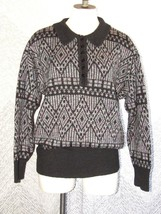 Vintage ICE Women's Wool Blend Sweater Cinched Waist Collared Soft Butto... - $20.79