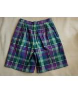 NEW NWOT Women's Lands' End 100% Cotton Madras Plaid Shorts Size 14 - $16.99