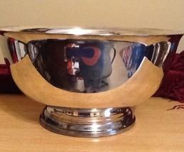"9""  Silverplated Pedestal Bowl 4 1/2"" Tall - $21.77"