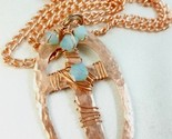 Wire wrapping with swarovski pacific opal crystal copper link necklace b4f9c7d5 1  thumb155 crop