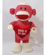 Gemmy Sock it to Me Sock Monkey Plush Musical Dances to Dynomite by Taio... - $9.89